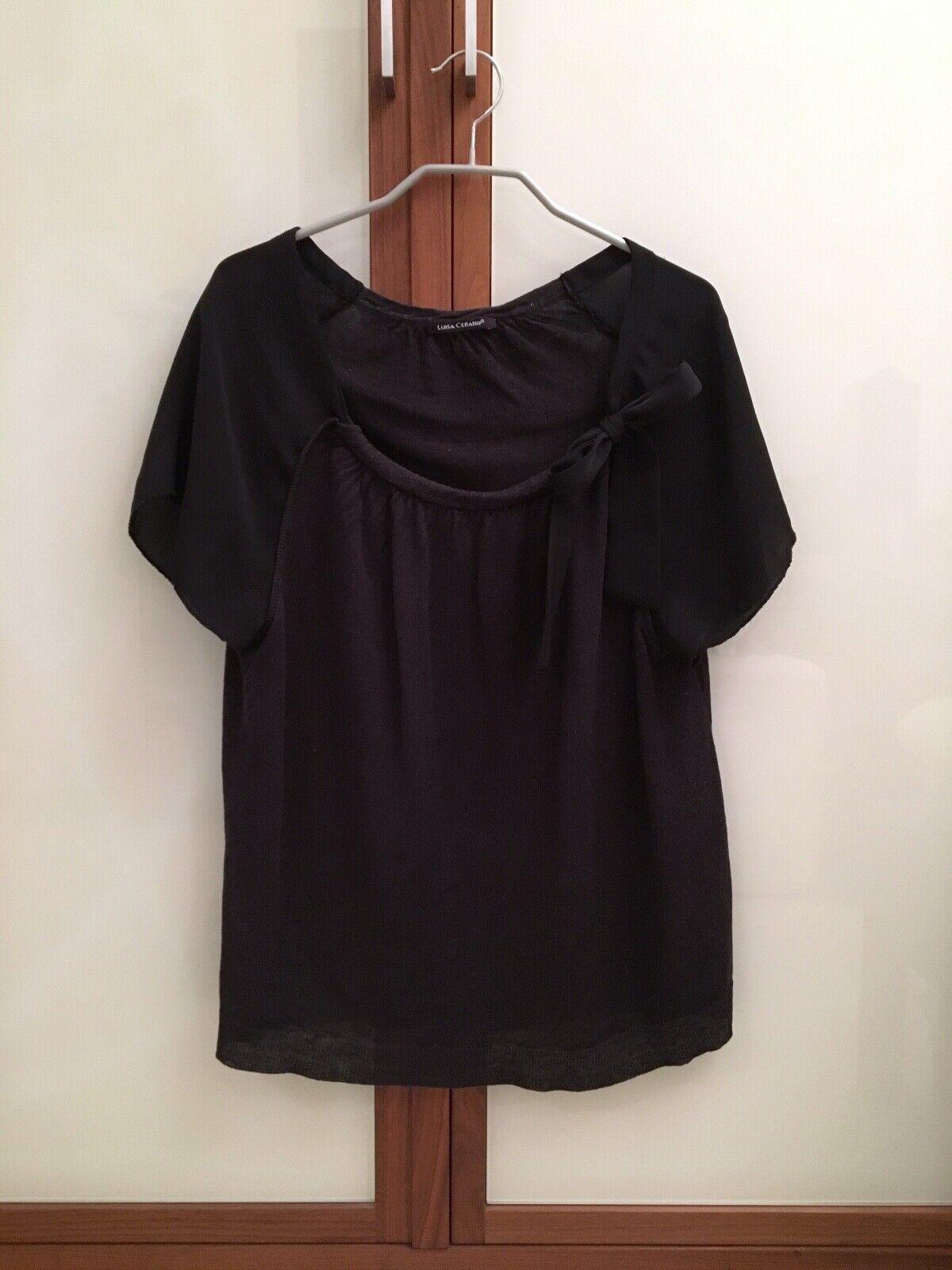 Luisa Cerano Oberteil   Shirt mit Schleife, Gr. 38, schwarz, sehr guter Zustand