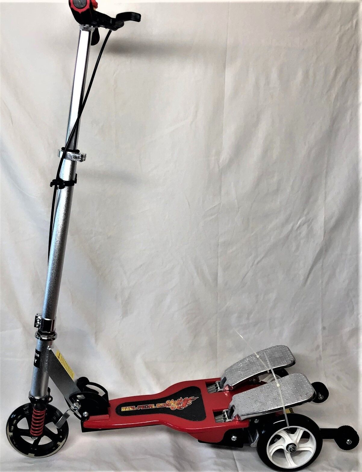 Dual Pedal 3rueda Scooter for  Boys & Girls 5 years LED davanti rueda rosso