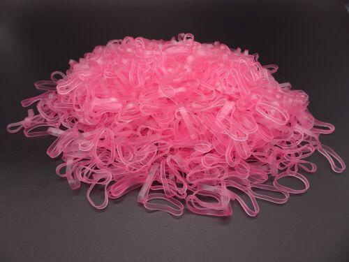 1000 élastiques roses pour cheveux Matière TPU. 25 mm x 3 mm