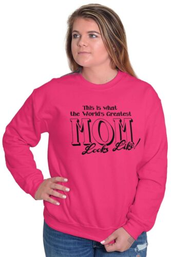 Worlds Greatest Mothers Day ShirtBest Mom Gift Idea Mommy Crewneck Sweatshirt