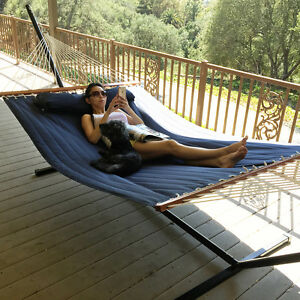 Superbe Image Is Loading Navy Blue Double Quilted Hammock Fabric Double Spreader