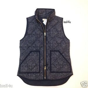 J Crew Factory Excursion Quilted Printed Puffer Vest Nwt