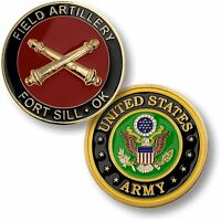 Fort Sill Field Artillery Challenge Coin Us Army Oklahoma Ok Token Medallion Ft
