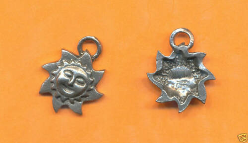 lead free pewter sun charm 1105