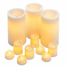 InGlow Real Wax Flameless LED Candle Collection - Set of 11