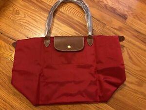 Bolso de 1899 Longchamp largo Le Pliage New nylon red tote rE1TqE