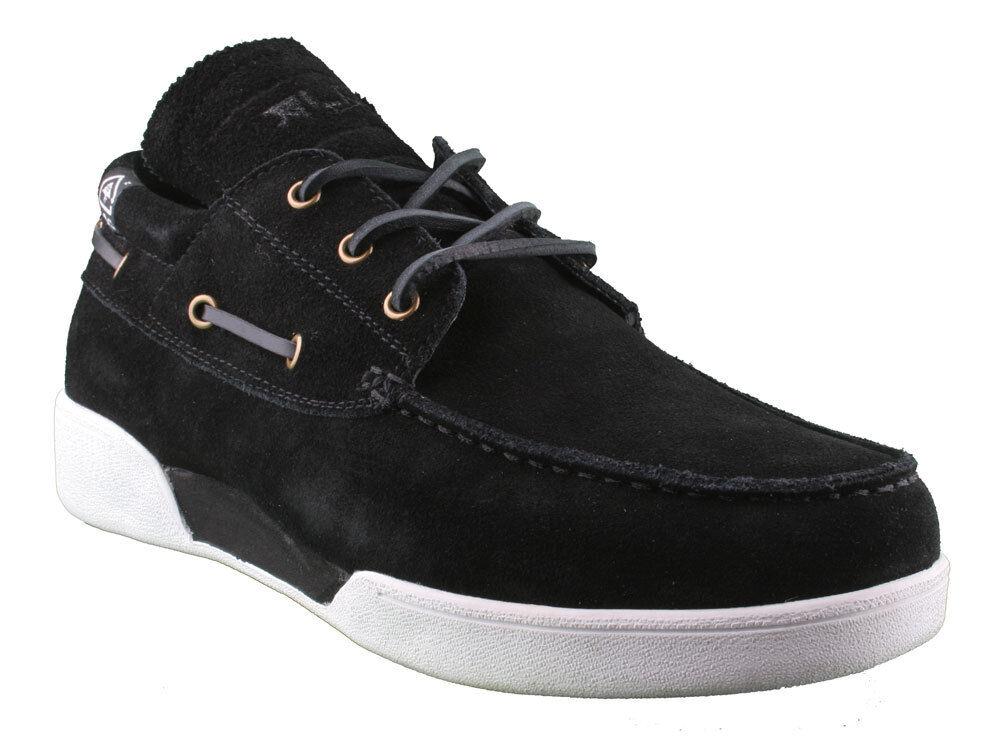 les chaussures de daim de cuir noir noir noir grl bateau de taille 9 42 eur nib 9a85f8
