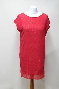 HOSS-INTROPIA-Ladies-Raspberry-Red-Sequinned-Chevron-Mini-Dress-EU38-UK10