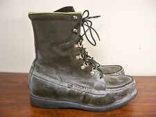 Vintage Green Leather Kangaroo Mens Hunting Work Birding Sport Boots Size 9.5 EE
