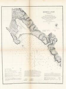 1859-US-Coast-Survey-034-Bodega-Bay-California-034-Original-electrotype