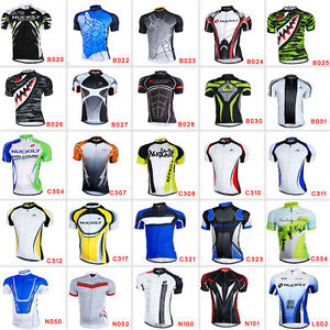 New-Road-Bike-Men-039-s-Cycling-Short-Sleeve-Jerseys-Tops-T-shirt-Bicycle-Clothing