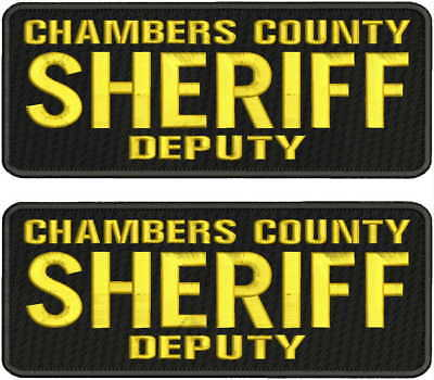 ORANGE COUNTY SHERIFF DEPUTY  embroidery patches 4x10 and 2x5  hook on back