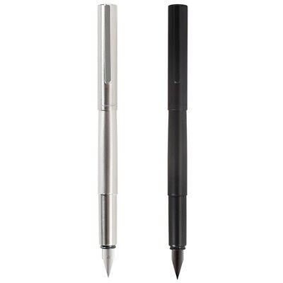 Jinhao 35 Black Metal Fountain Pen 0.38mm Nib Students Converter Writing Gift #s