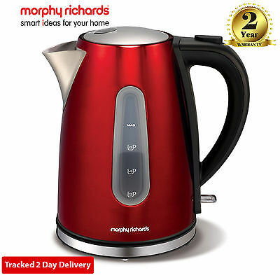 Morphy Richards 43904 Accents 1.5 Litre 3kw Electric Jug Kettle in Red