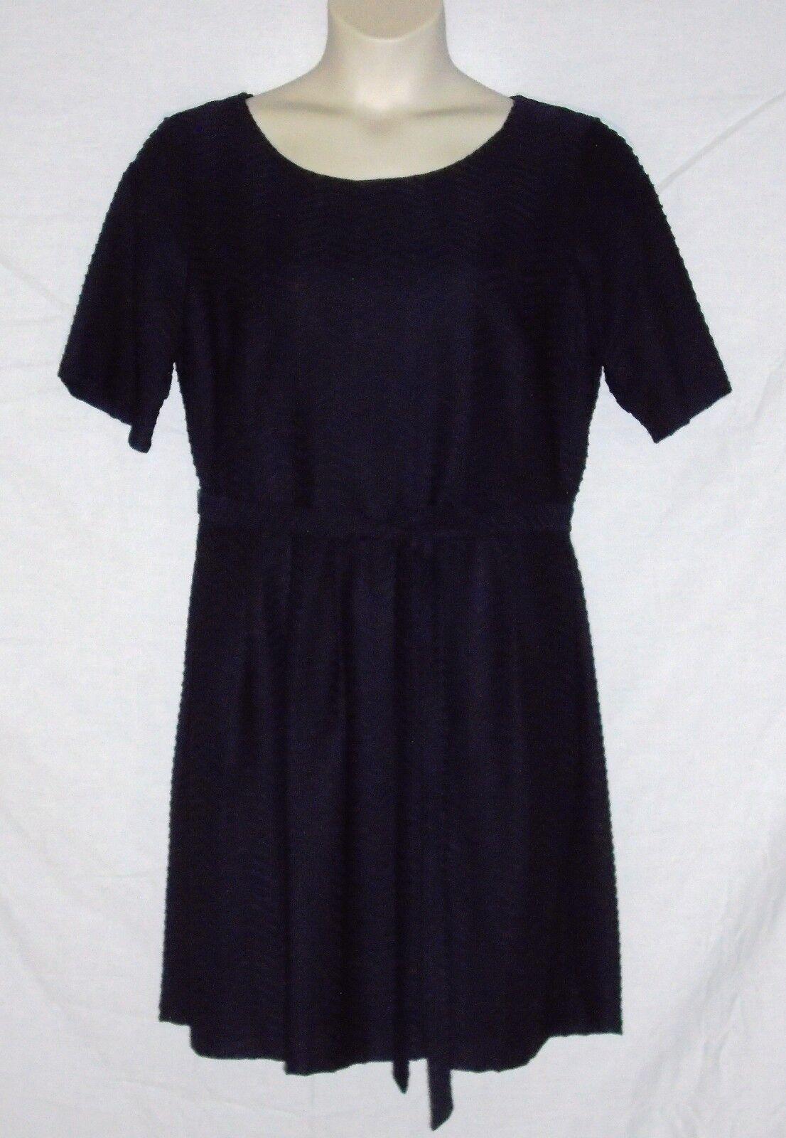 ENFOCUS WOMEN – DRESS - RIBBED FABRIC & TIE BELT – NAVY blueE – 18W – NEW  54