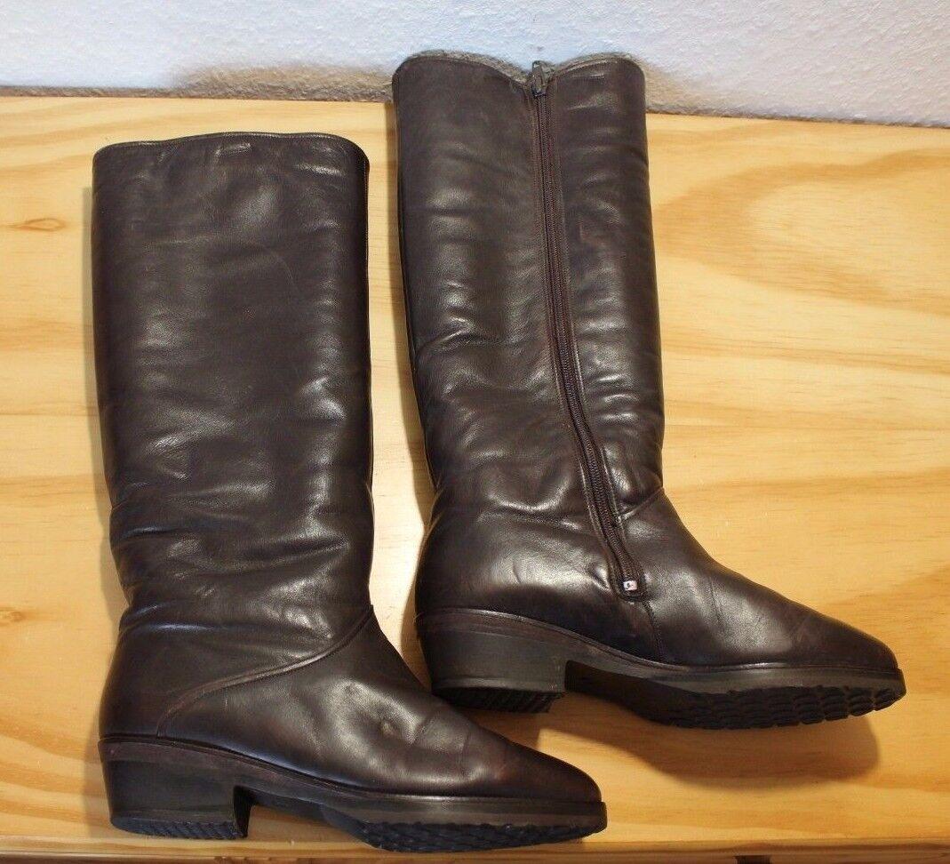 Damen Stiefel Stiefel Stiefel Gr.4,5 (37,5) Winterstiefel Leder Lammfell 402c0c