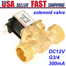 1pc 12v Dc G34 Electric Solenoid Valve Brass 300ma Normally Closed For Water Us
