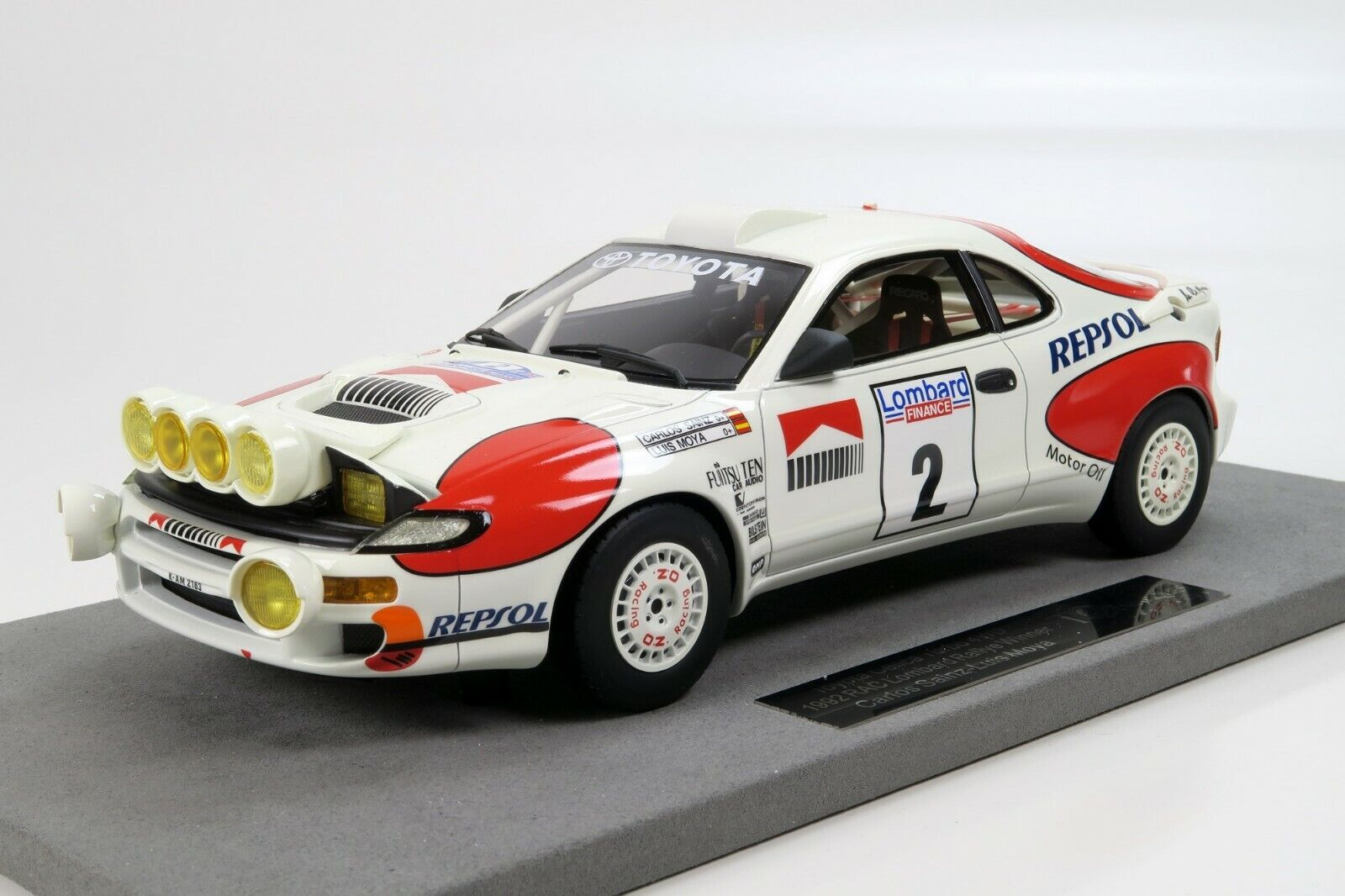 TOP MARQUES 034BN TOYOTA CELICA GT4 RAC 1992 model car Win C Sainz  L Moya 1 18