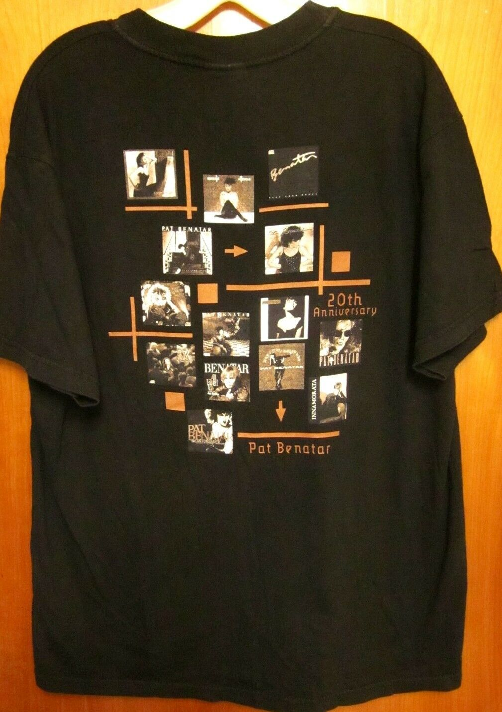 PAT BENATAR lrg concert T shirt large 20th Anniversary tour tee Album Covers