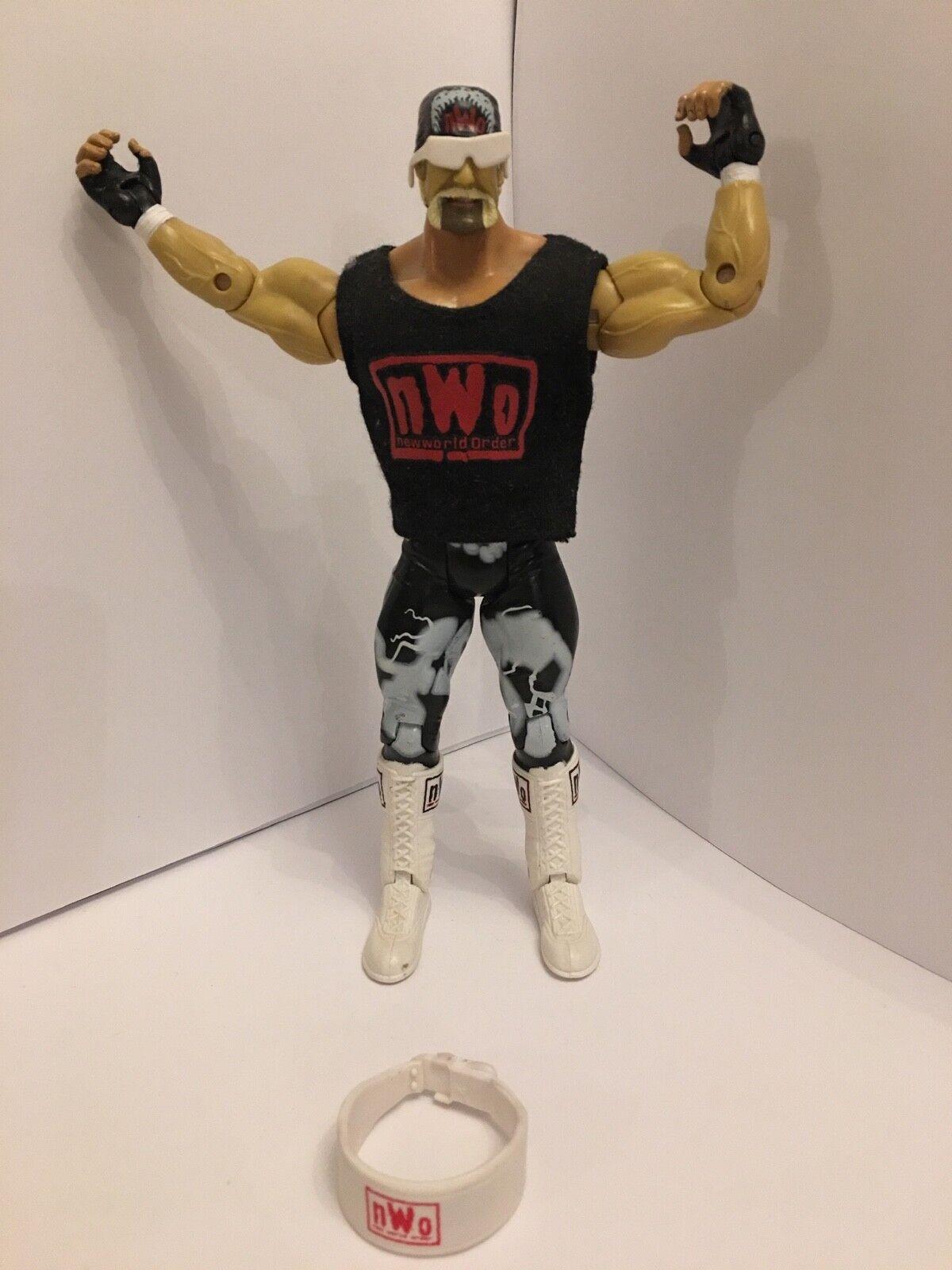 Rare wwe Wwf tna nwo hulk hogan  jakks classic toy wrestling figure