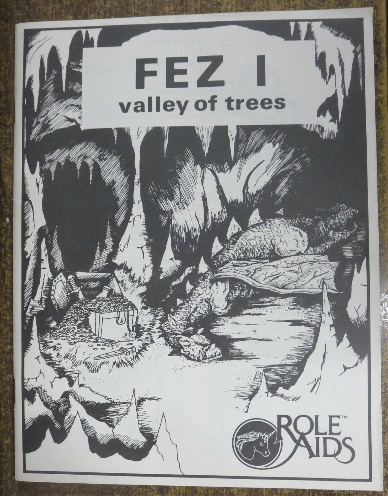 FEZ 1 -VALLEY OF THE TREES RPG  MAYFAIR GAMES 1982, ROLE AIDS
