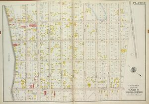 STATEN ISLAND N.Y. COPY PLAT ATLAS MAP VINCENT/'S HOSPITAL 1917 RICHMOND ST