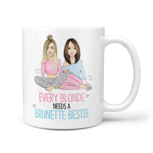 Friend Birthday Bestfriend Mugs Every Blonde Needs a Brunette Bestie Gift Mug