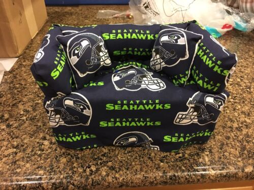 Seattle Seahawks Sofa Tissue Box Cover With Pillows Free Shipping Green NavyBlue