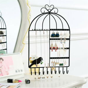Wall Jewelry Earring Organizer Hanging Holder Necklace Display Stand