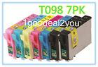7Pack of T098 Non-OEM INK FOR EPSON Artisan 700 710 800