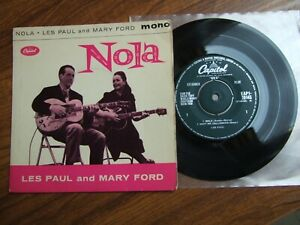 "LES PAUL and MARY FORD - NOLA EP - UK 7"" CAPITOL EAPI -20145 / 1961 EX"