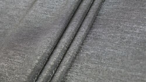 MEDIUM WEIGHT BLACK DOUBLE-SIDED PONTE ROMA FABRIC METALLIC SHEEN