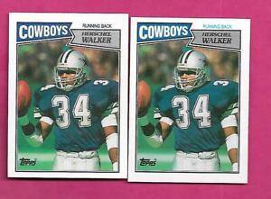 2-X-1987-TOPPS-264-COWBOYS-HERSCHEL-WALKER-ROOKIE-NRMT-MT-CARD-INV-C4184