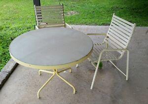 Vintage Thinline Amp Brown Jordan Patio Set 2 Chairs