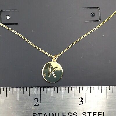 Wrapables Gold Plated Initial Letter Pendant Necklace Letter K