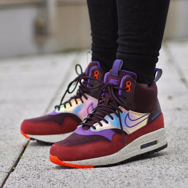 8e2d43daaeb6b ... inexpensive nike wmns shoes air max 1 mid sneakerboot 685269 600 size 7  deep burgundy 8ab18