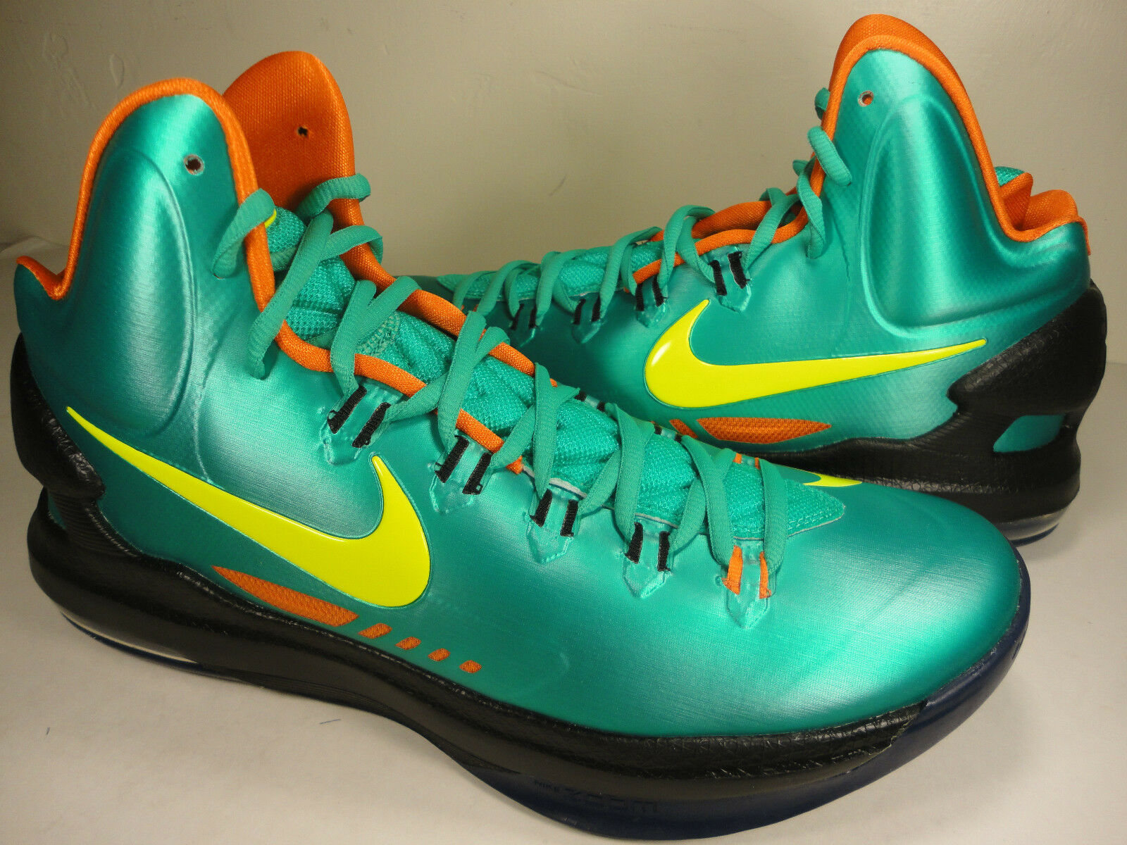 Nike Zoom KD V 5 iD Green Yelfaible Orange noir SZ 11 (607467-991)