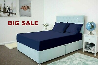 Extra deep 40cm Fitted sheet bed sheet 100/% poly//cotton single double king super