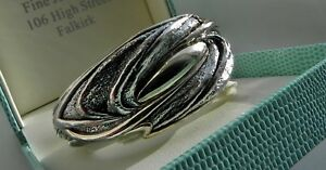 0a7cd61743e F A B! 39g sterling silver 925 N.S. Bar-On Israel modernist cuff ...