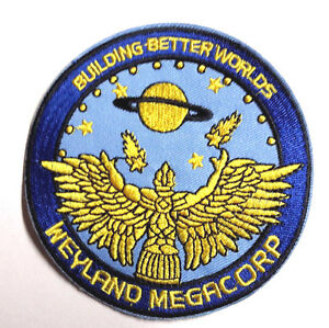 "ALIEN Movie/PROMETHEUS- Weyland Megacorp 3.75"" Uniform Logo Patch (ALPA-WCB3)"
