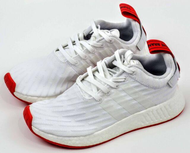 Adidas NMD R2 Boost Primeknit White Red BA7253