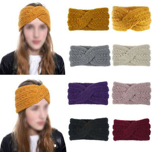 Women-Ladies-Crochet-Headband-Knit-Bowknot-Hair-Band-Winter-Headwrap-Hair-Wraps