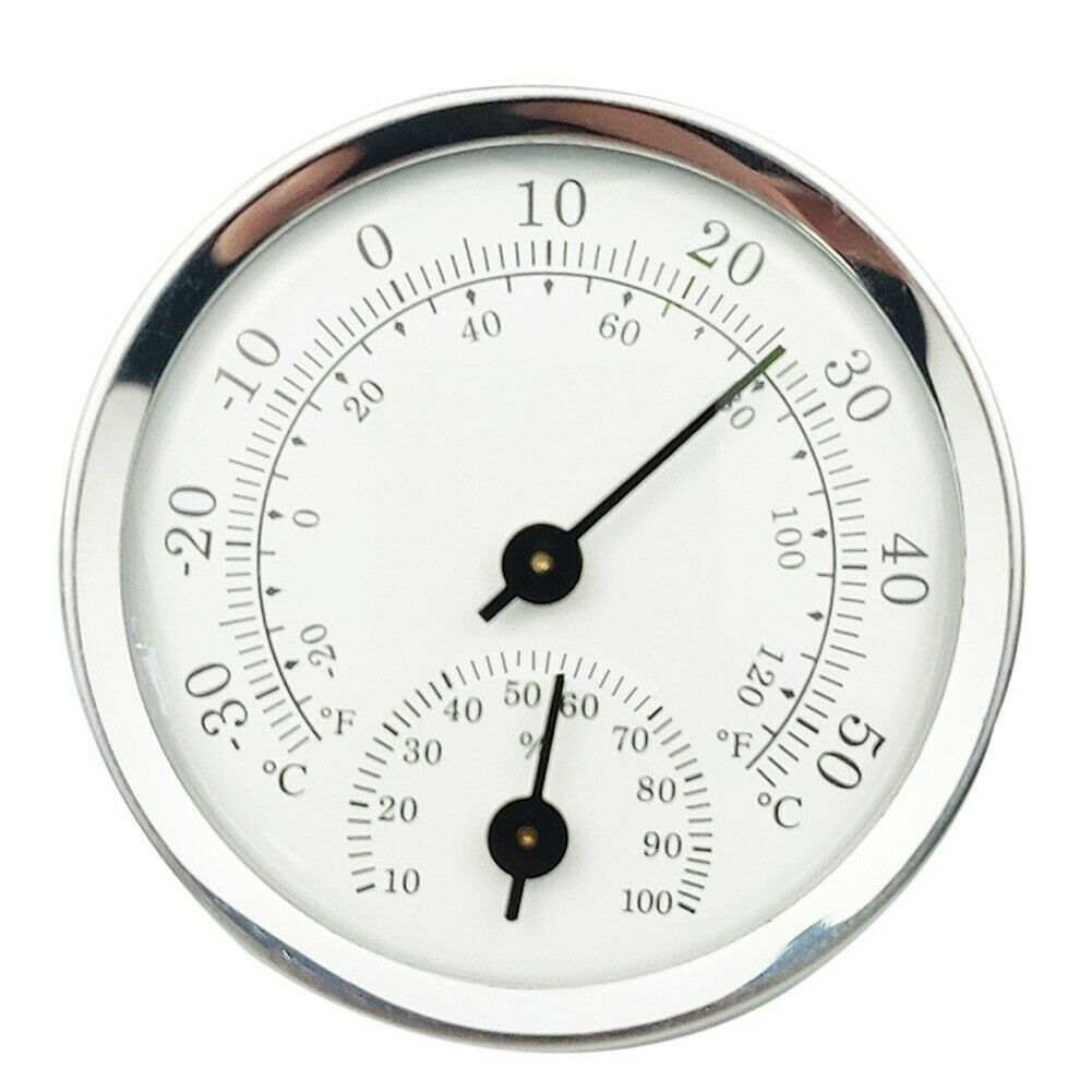 Wall-Mounted Temperature Humidity Car Room Meter Analog Thermometer Hygrometer