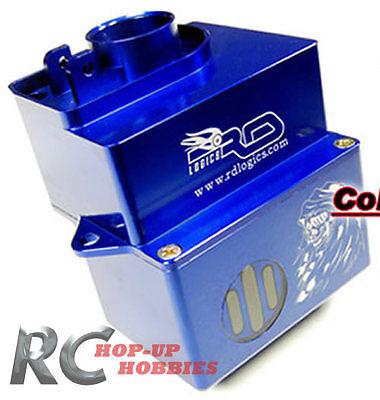 HPI Savage / Savage X Blue Aluminum Large Fuel Tank w/ Indicator RDLogics SVG075