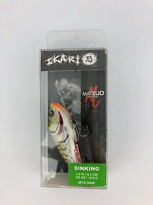 """MATZUO IKARI GREEN SHAD CRAW SINKING FISHING LURE MTZ-38IK 2.5/"""" 3//8 OZ."""