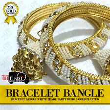 22K Gold Plated 2Pc Bracelet Bangle Indian Women Ethnic Traditional Jewellery 26