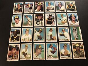 1978-Topps-SAN-DIEGO-PADRES-Complete-TEAM-Set-DAVE-WINFIELD-Rollie-FINGERS