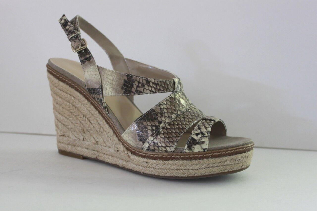 Anne Klein Damenschuhe Größe 8.5 Tague Braun Slingback Platform Wedge High Heel Sandale