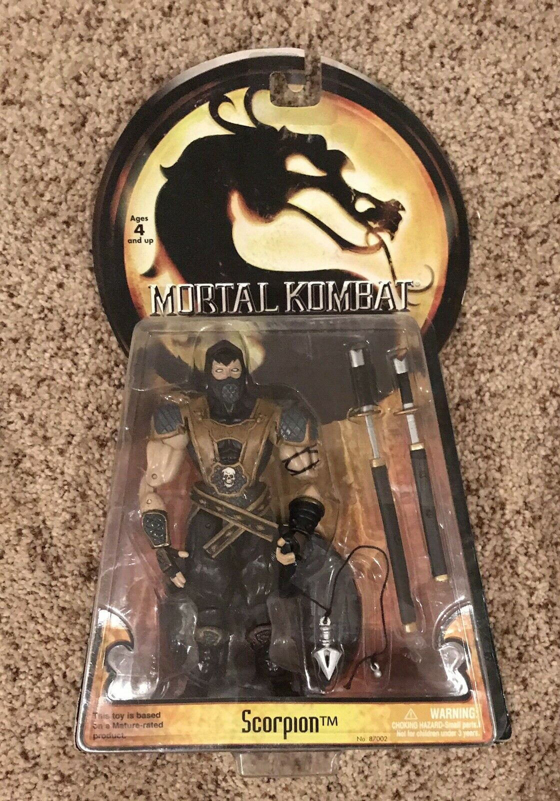 2005 Sealed Jazwares Mortal Kombat Shaolin Monks SCORPION Action Figure New
