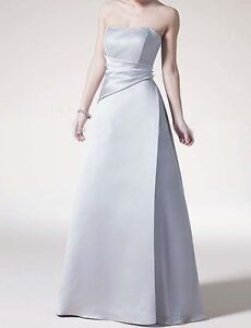 Silver Satin Formal Dresses eBay